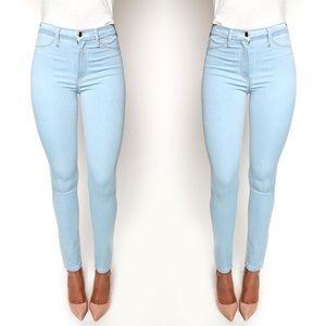 Anthropologie Pilcro Stet Skinny Baby Blue Jeans
